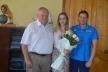 Міський голова Рівного зустрівся з чемпіонкою Європи з легкої атлетики