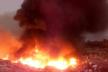 Масштабну пожежу на сміттєзвалищі біля Рівного гасили в апаратах захисту (Відео)