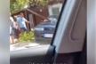 В'їхав на чуже подвір'я: у Рівному — ДТП з легковиком (Відео)
