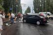 У Рівному на вулиці Соборній ліквідували наслідки ДТП (ФОТО)