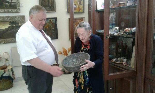 Володимир Хомко побував в гостях у Надії Косміаді