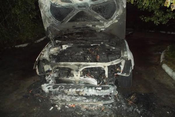Військовому спалили машину (Фото)