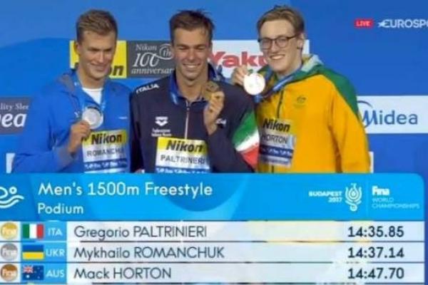 Рівненський плавець Михайло Романчук виборов «срібло» на чемпіонаті світу