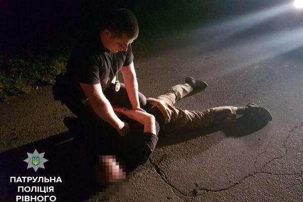 Рівненський водій збив на смерть чоловіка та побив начальника поліції (Фото)