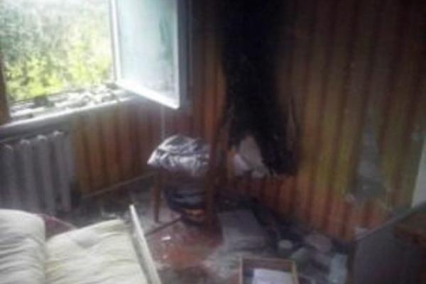 В «Острозькій академії» горіла кімната (Фото)