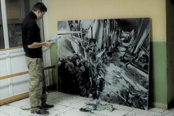 У Рівному представили картини, створені за мотивами фотографій Сергія Лойка