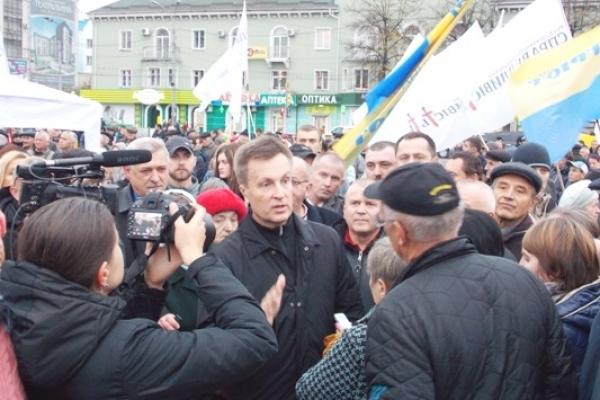 У Рівному та у колисці УПА Гутвині вчора був Наливайченко