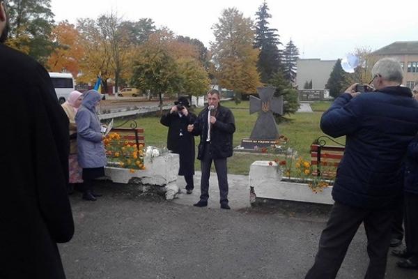 На Березнівщині відкрили пам'ятник «Борцям за Волю України»