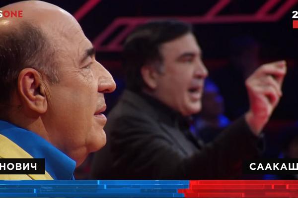 Під час спарингу на прем'єрі шоу «Український формат» Рабінович відправив Саакашвілі в «нокаут»