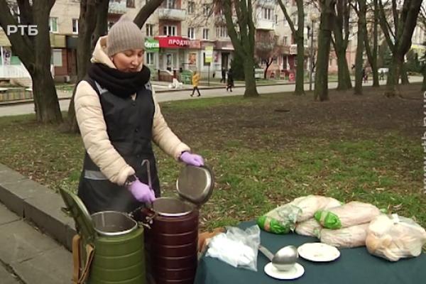 У Рівному роздавали безкоштовні обіди (Відео)