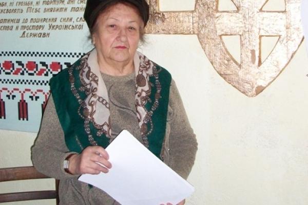Рівнянка Лариса Колесник: «Голодом, холодом витравлювали з нас дух українства…»