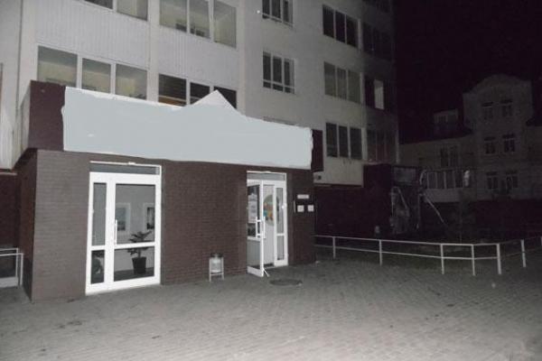 Рівненська поліція шукає, хто підпалив офіс на Клима Савури (Фото)