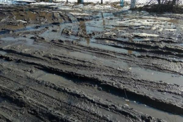 В Острозі разом зі снігом пропала і дорога