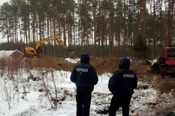 Працівники Зарічненського лісгоспу усувають наслідки незаконного видобутку бурштину (Фото)