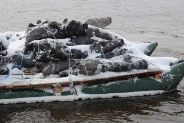 З Рівненщини до Білорусі контрабандне м'ясо переправляли плотом