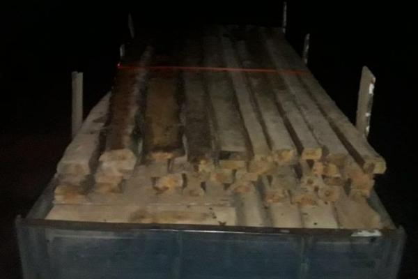 На Рівненщині поблизу кордону затримали вантажівку з деревиною