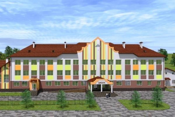 На Рівненщині в селі Озерці будують трьохповерхову школу (Фото)