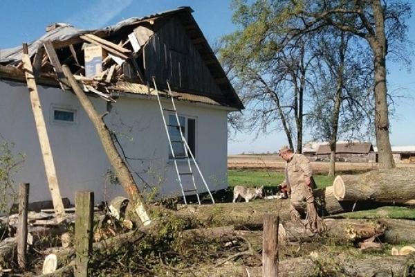 На Рівненщині будинок пенсіонерки розтрощило дерево  (Фото)