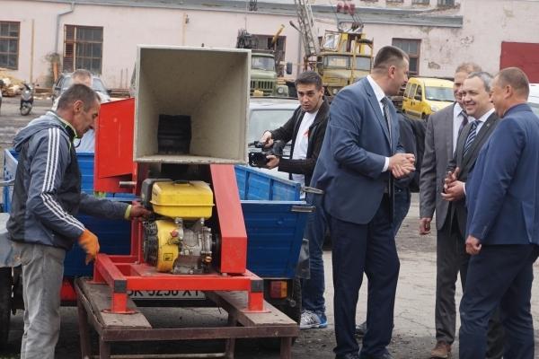 На Рівненщині у Бугрині запустили пелетну лінію (Фото)