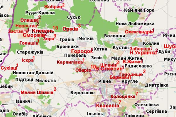 Мешканці Рівненщини хворіють на кір (Інфографіка)