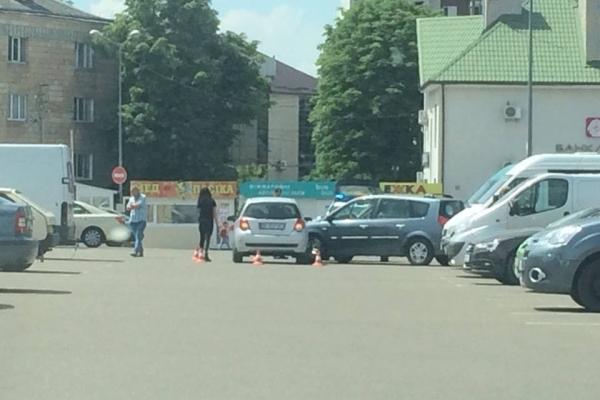 На вулиці Гагаріна у Рівному ДТП (Фотофакт)