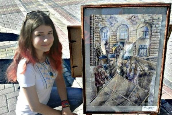 Рівненська школярка кинула виклик самому Мікеланджело