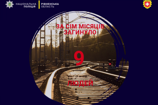 На Рівненщині 9 громадян загинули внаслідок наїзду залізничного транспорту