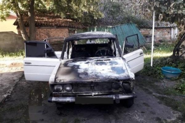 У Березному посеред двору загорілася стара «Вазівка»