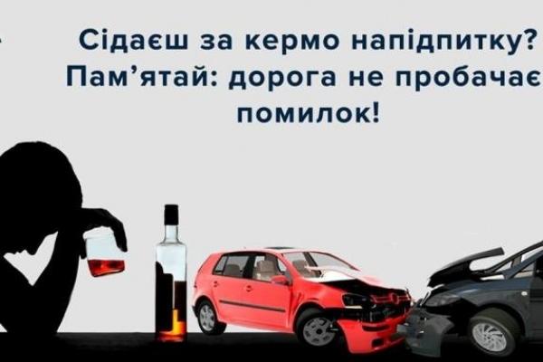 Понад 56 тисяч адмінпротоколів на п'яних водіїв у цьому році