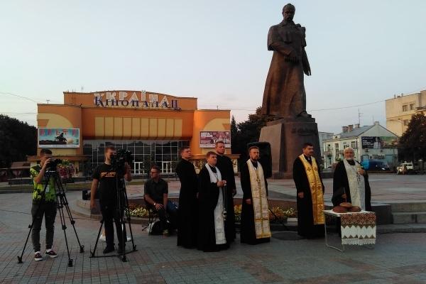 У Рівному відбувся пам'ятний молебень за загиблими під Іловайськом (Фото)
