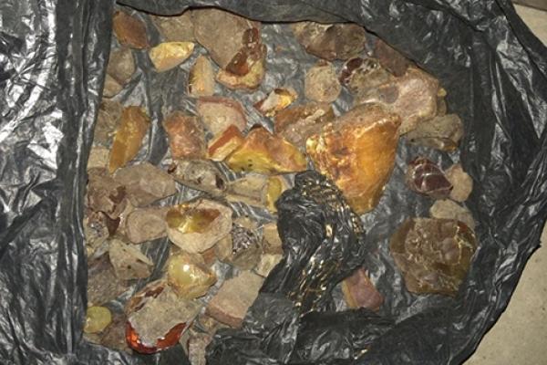Житель Рівненщини вдома зберігав бурштин на суму майже 3 млн грн.