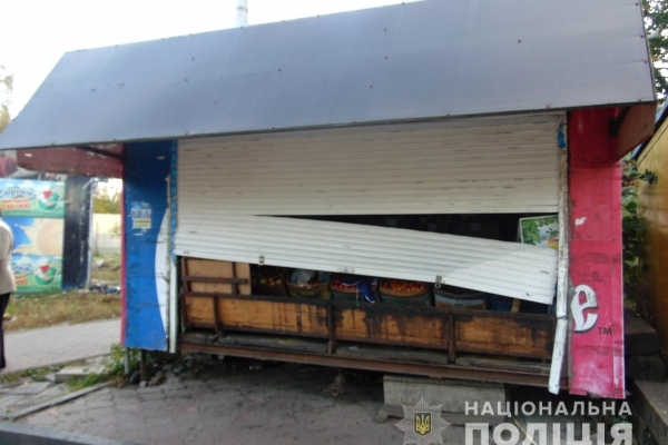 У Рівному затримали молодика, який обікрав торговий кіоск (Фото)