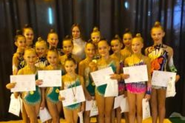 Рівненські гімнастки здобули два золота і срібло «Кубку Лева 2018»