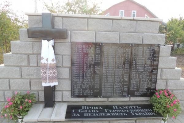 Пам'ятний знак «Борцям за свободу і незалежність України» відкрили на Березнівщині