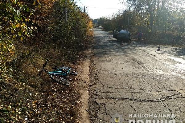 Хлопчик-велосипедист, який врізався у машину, в лікарні (Фото)
