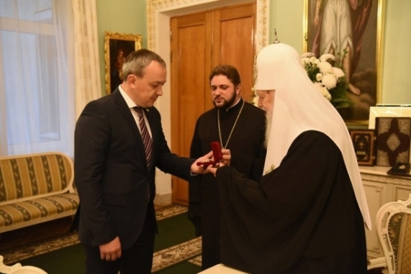 Муляренко отримав орден від Філарета (Фото)