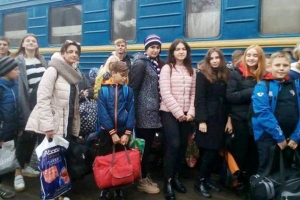 На Рівненщину приїхали школярі з Луганщини