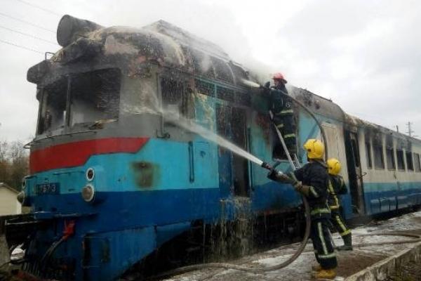 На Костопільщині горів  потяг