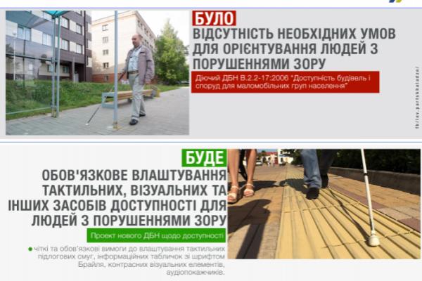 В Україні планують створити доступний простір для людей із порушеннями зору