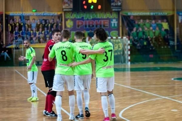 «Кардинал-Рівне» очолив турнірну таблицю Екстра-ліги