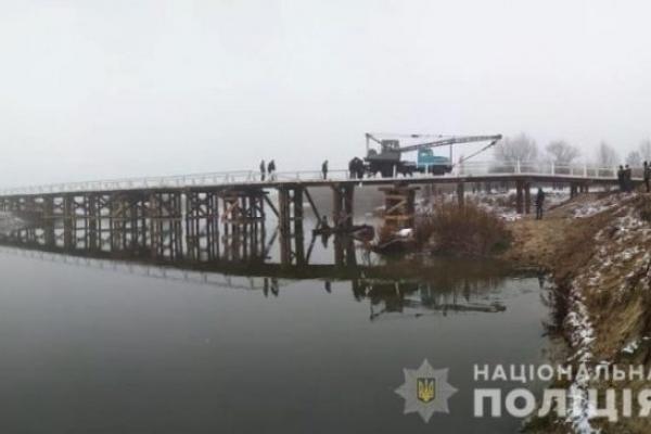 Стало відомо, хто на Поліссі зірвався з мосту (ФОТО, ВІДЕО)