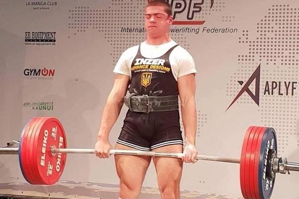 Пауерліфтер з Рівненщини на Чемпіонаті Європи підняв