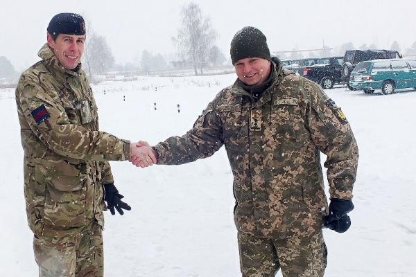 Військовослужбовці ЗС Великої Британії подякували українським колегам з Рівного (Фото)