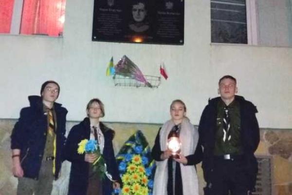 Генерала Безручка вшанували українські пластуни і польські харцери