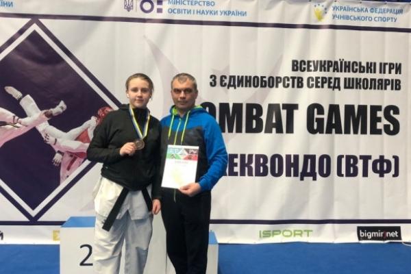 Тхеквондистка з Рівненщини здобула медаль Всеукраїнських «Combat Games»