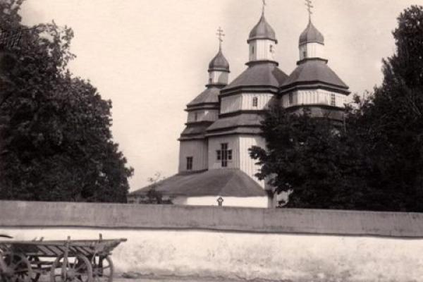 Фото старої церкви в Степані, яка згоріла ще на початку ХХ ст.