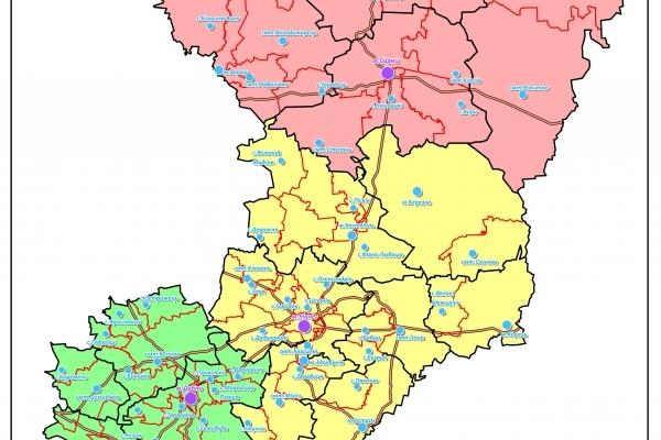 Новий адміністративно-територіальний устрій Рівненщини: поділ на три райони (Фото)