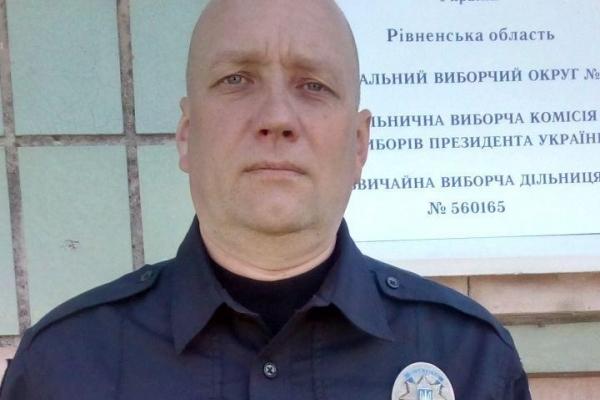 На Рівненщині поліцейський врятував життя чоловікові