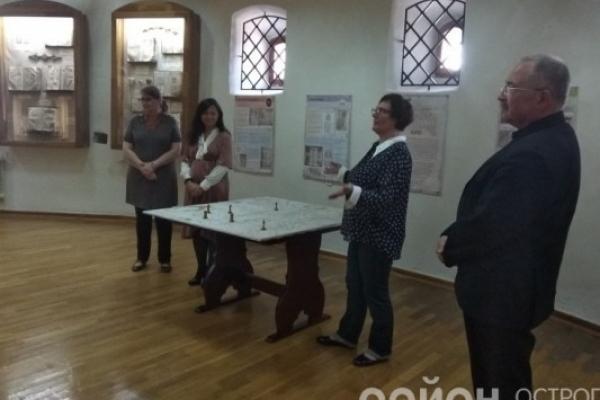Спільний проект презентували в Острозі  Київський та Острозький музеї книги
