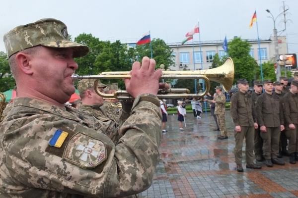 В Рівному до заходів з нагоди Дня Європи долучилися військові музиканти